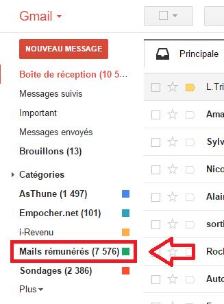 Créer un filtre pour trier les mails rémunérés dès leur réception